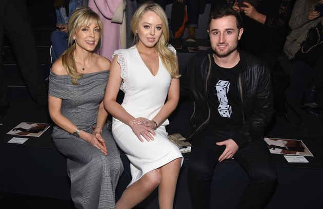 Marla Maples, Tiffany Trump and Ross Mechanic attend the Taoray Wang collection during NYFW on Feb.