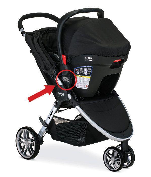 Britax-B-Agile stroller in travel system mode.
