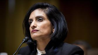 Seema Verma, Centers for Medicare and Medicaid Services administrator nominee for U.S. President Donald Trump, listens during a Senate Finance Committee confirmation hearing in Washington, D.C., U.S., on Thursday, Feb. 16, 2017. Verma, the businesswoman Trump selected to oversee Medicaid, the health care program for 74 million low-income Americans, has said the program is structurally flawed by policies that burden states and foster dependency among the poor. Photographer: Pete Marovich/Bloomberg via Getty Images