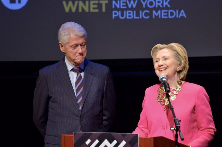 """Bill and Hillary Clinton honor Maya Angelou at <a href=""""https://www.nypl.org/locations/schomburg"""">The Schomburg Center for Re"""