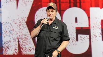 NASHVILLE, TN - APRIL 12:  Ted Nugent speaks at the 2015 NRA Annual Convention during  Freedom Is Not Free And We The People Must Keep It Alive! at the Music City Center on April 12, 2015 in Nashville, Tennessee.  (Photo by Terry Wyatt/Getty Images)