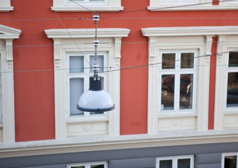 New, energy efficient LED street lighting installed in Copenhagen.