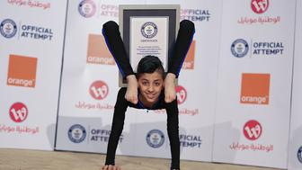 Mohammed Spider-Boy Alsheikh has broken the world record for the Most full body revolutions maintaining a chest stand in one minute