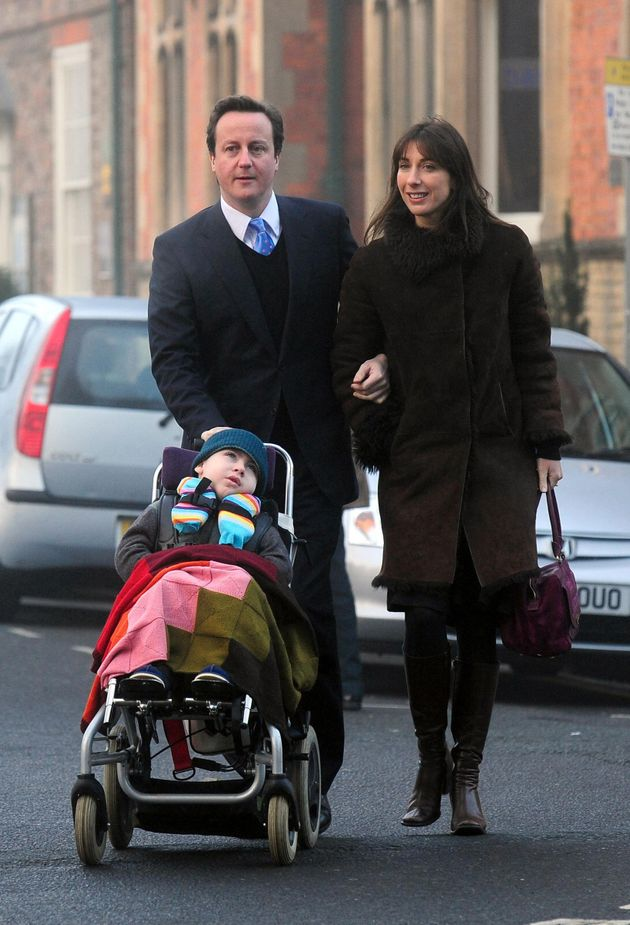 Samantha and David Cameron with Ivan in