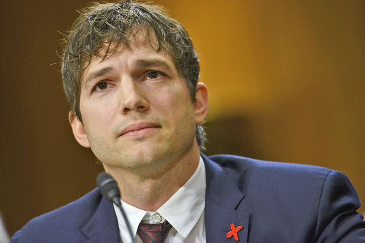 Kutcher speaking at the senate hearing on Wednesday.