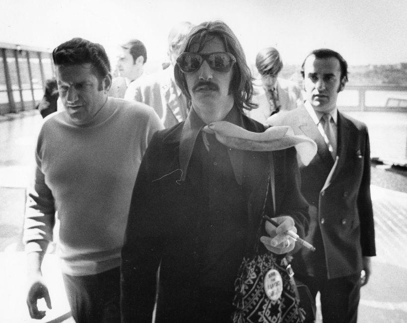 Schneider, right, with Ringo Starr.