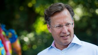 UNITED STATES - SEPTEMBER 6: Dave Brat, Republican candidate for Congress from Virginia's 7th district, speaks with district residents during the 39th Annual Orange Street Festival in Orange, Va., on Saturday, Sept. 6, 2014. Brat defeated House Majority Leader Eric Cantor, R-Va., in the Republican primary. (Photo By Bill Clark/CQ Roll Call)