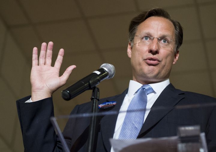 "Rep. Dave Brat (R-Va.) now says he could've chosen better words when he said women were in his ""grill"" over Obamacare re"