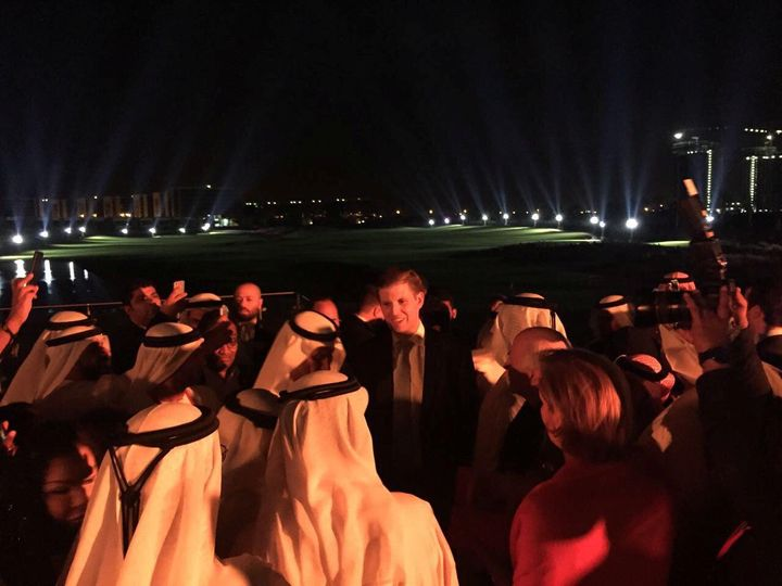President Donald Trump's son Eric Trump attends the opening ceremony of the Trump International Golf Club in Dubai, United Ar