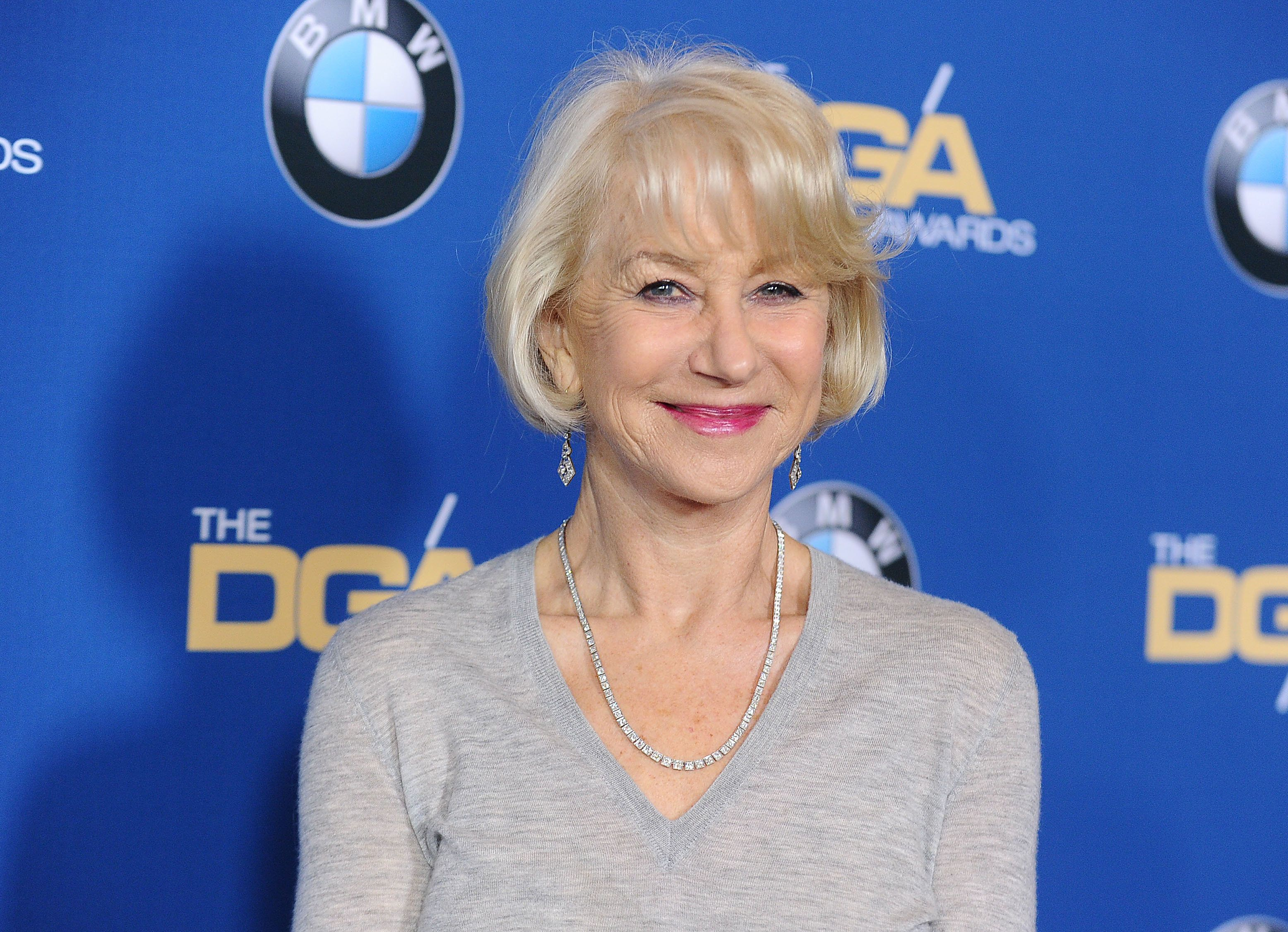 BEVERLY HILLS, CA - FEBRUARY 04:  Actress Helen Mirren attends the 69th annual Directors Guild of America Awards at The Beverly Hilton Hotel on February 4, 2017 in Beverly Hills, California.  (Photo by Jason LaVeris/FilmMagic)