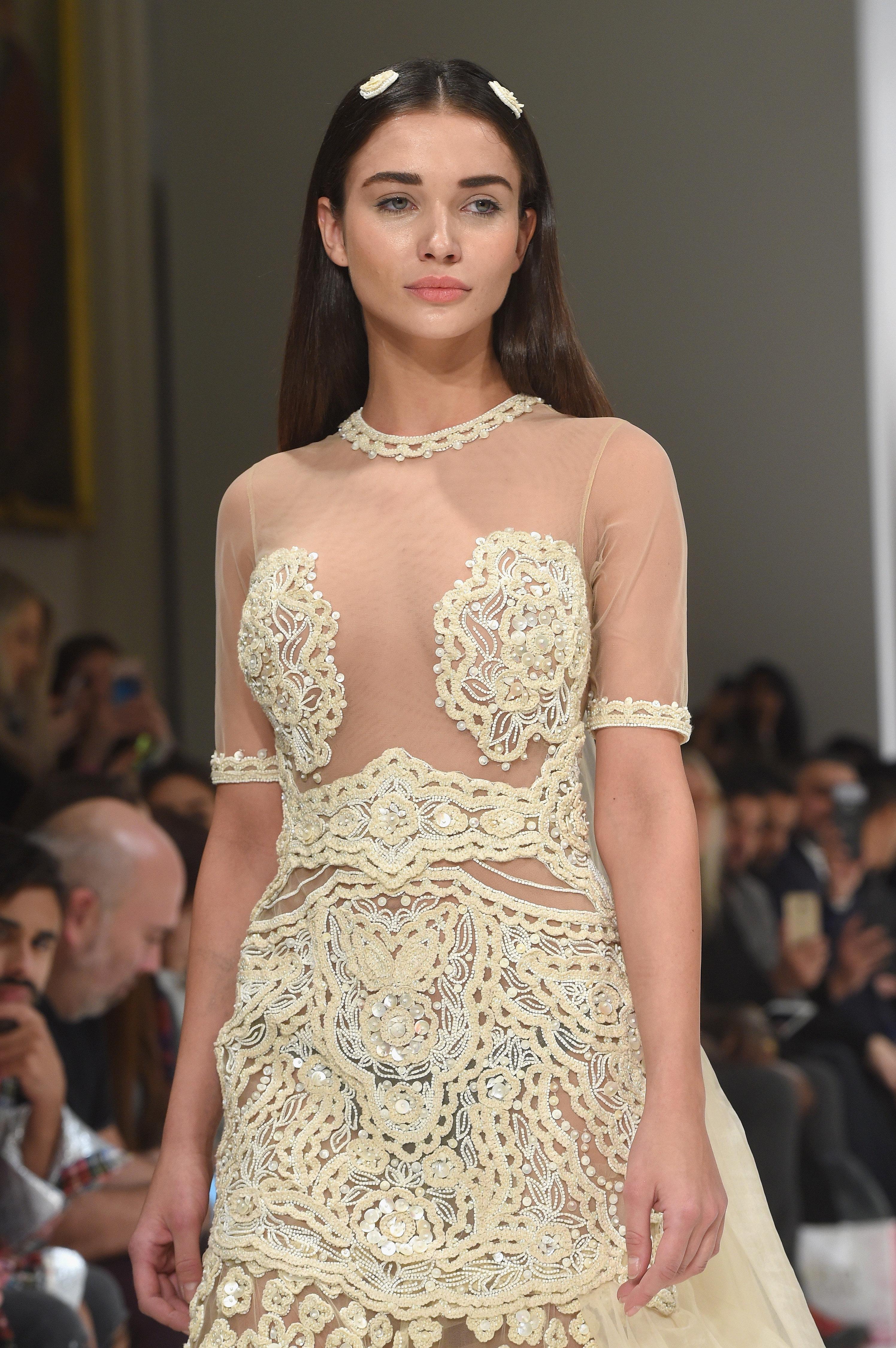London Fashion Week 2017: Rocky Star's Nearly-Naked Wedding Dress Wins Fans On