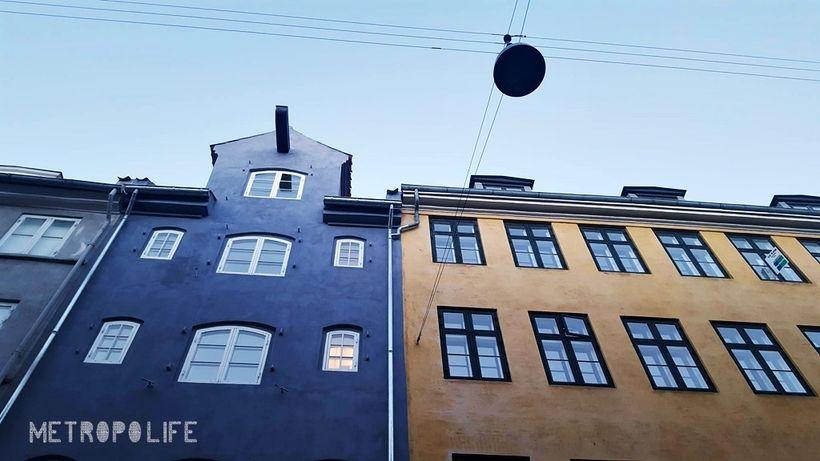 Looking up in Old Town Copenhagen
