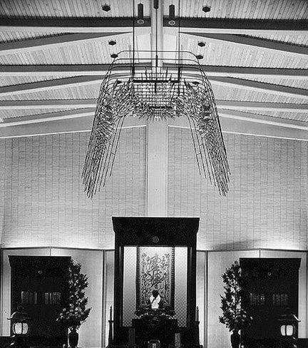 Michio Ihara, <em>Altar Canopy</em> (1965), gold plated brass, steel, 7 x 12 x 12 feet, Josen-Ji Buddhist Temple, Tokyo, Japa