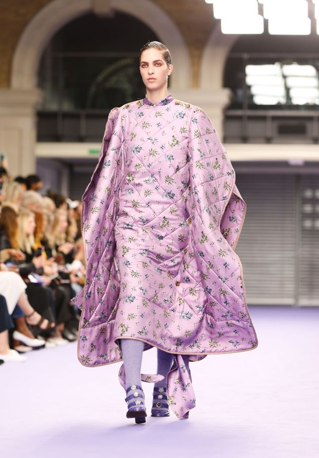 London Fashion Week 2017  Mulberry s Duvet Poncho Is What Sweet Dreams Are  Made fd8d701743dd8