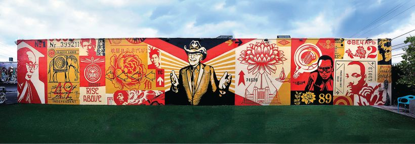 Wynwood Walls Mural, 2013, Miami, FL. Courtesy Obey Giant Art.