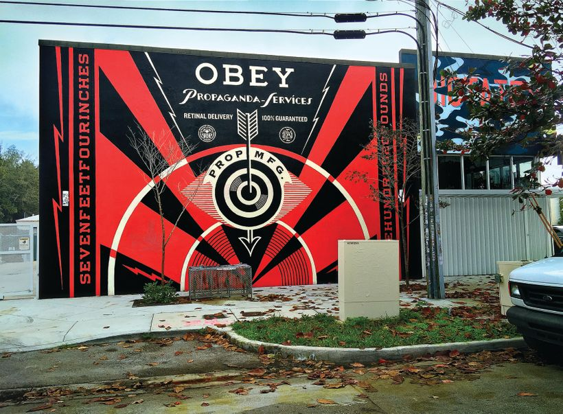 Propaganda Eye Mural, 2014, Miami, FL. Courtesy Obey Giant Art.
