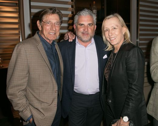 Joe Namath, Nick Korniloff, Martina Navratilova at Art Wynwood Tony Goldman Lifetime Artistic Achievement Award ceremony for