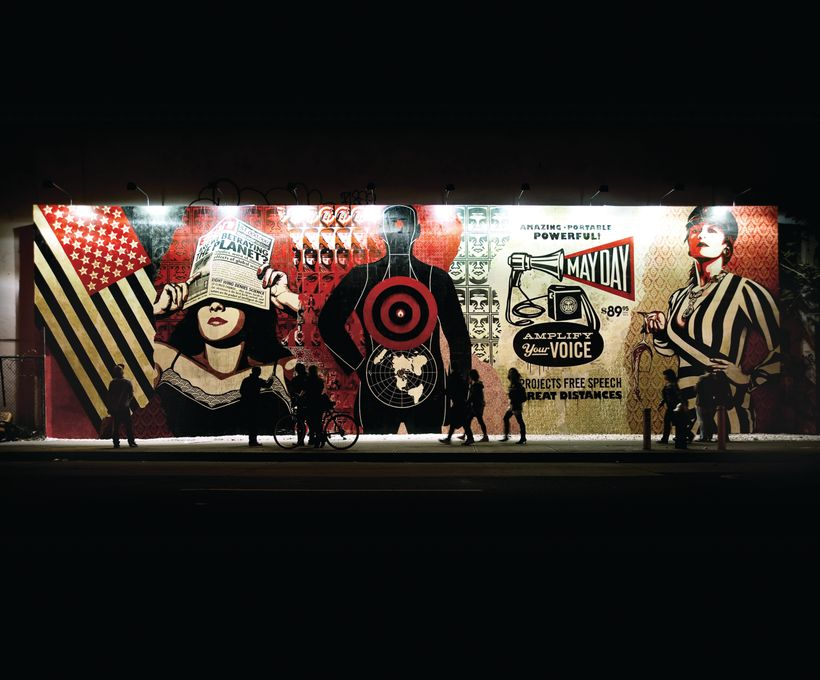 Houston and Bowery Mural, 2010, New York. Courtesy Jacob Lewis Gallery, New York. Photo Jon Furlong.