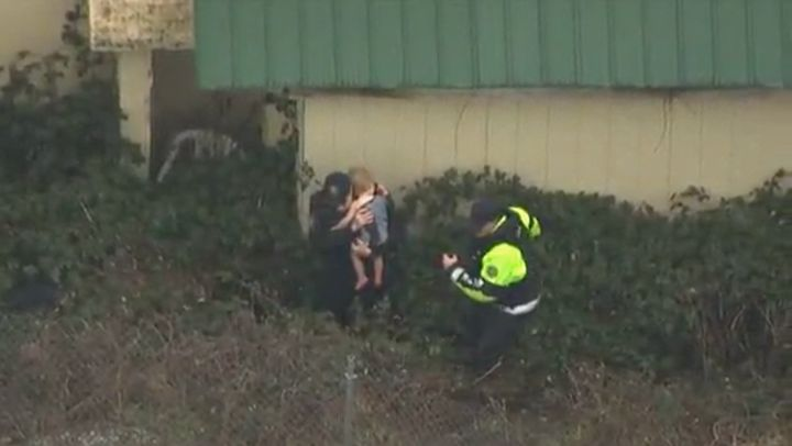 Police release video of the heart-stopping moment missing toddler is found
