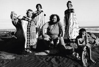 Dalvanius Prime with members of the original Patea Māori Club