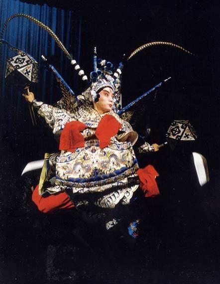 A wusheng performer in costume for Kunqu opera