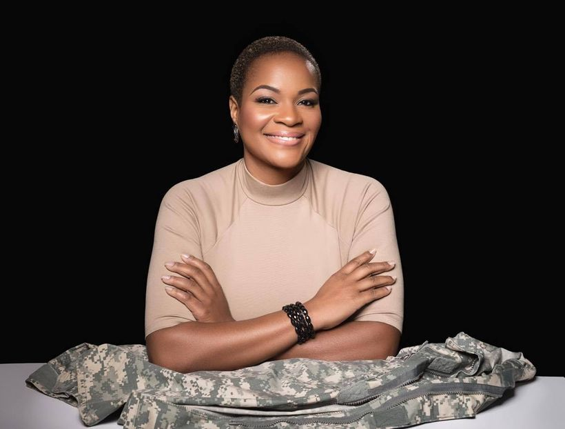 Army Reserve Maj. Jas Boothe, founder of Final Salute, Inc., a program of transitional housing for female veterans in Washing