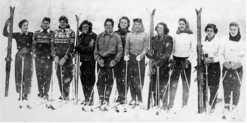 Canadian Women's National Ski Team 1948 (My Granny is third in from the left)