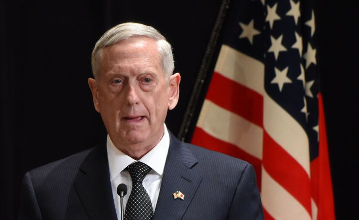 Defense Secretary James Mattis distanced himself from remarks made by President Donald Trump before arriving on an unannounce