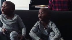 Madonna Shares First Video Of Adopted Twin Daughters Singing 'Twinkle,