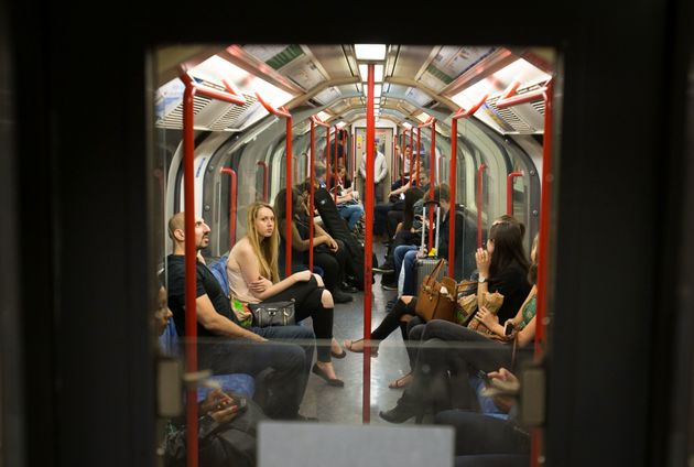 Customers make the most of the Night Tube service on the Central