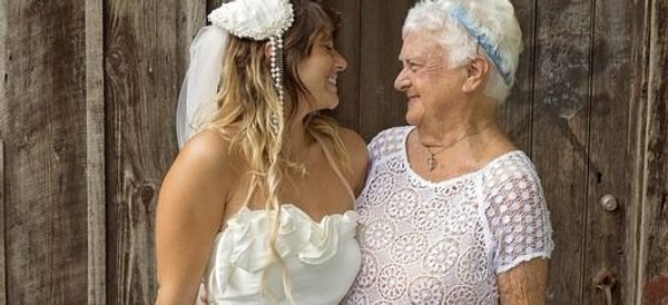 92-Year-Old Bridesmaid Brings All The Joy To Her Granddaughter's Wedding