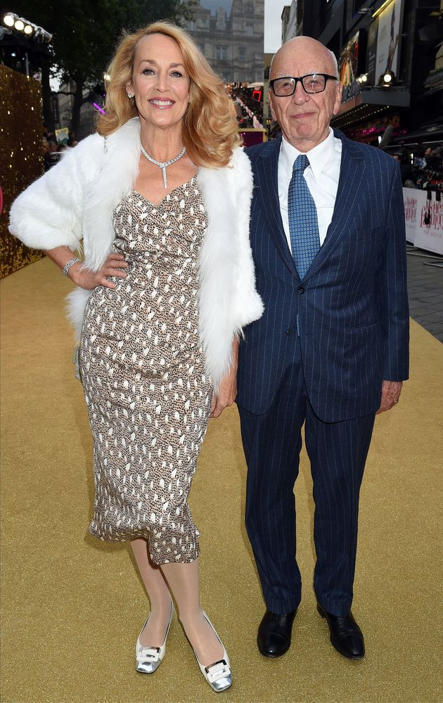 Rupert Murdoch with his wife Jerry