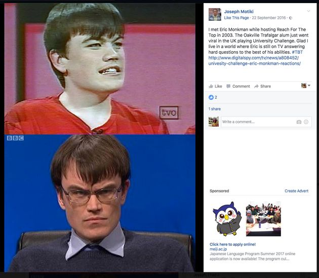 Canadian quiz show host Joseph Motiki shared his support for Monkman over Facebook. Monkman had appeared...
