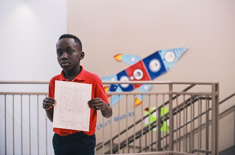 "This 9-year-old student signed his letter, ""I'm proud to say I'm black."""