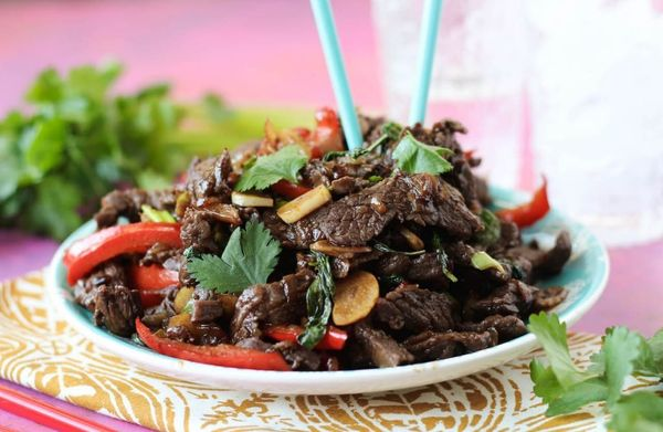 """<strong>Get the <a href=""""http://paleomg.com/thai-basil-beef/"""" target=""""_blank"""">Thai Basil Beef recipe</a>from Paleomg</s"""