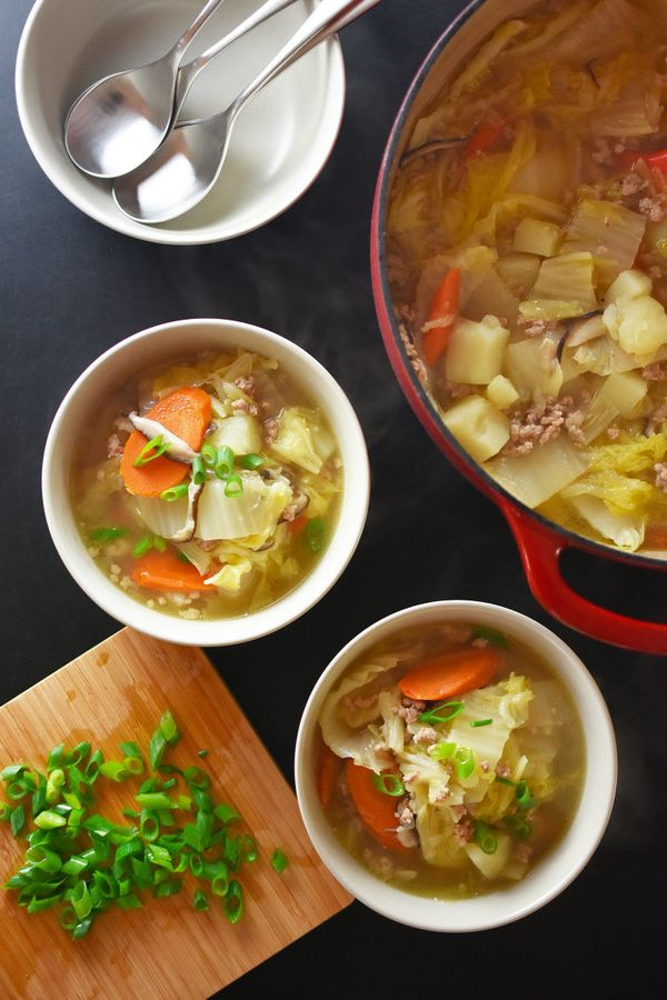 """<strong>Get the <a href=""""http://nomnompaleo.com/post/153203159908/pork-and-napa-cabbage-soup"""" target=""""_blank"""">Pork And Napa C"""