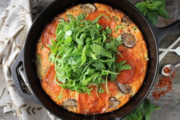 """<strong>Get the <a href=""""http://paleomg.com/supreme-pizza-frittata/"""" target=""""_blank"""">Supreme Pizza Frittata recipe</a>f"""