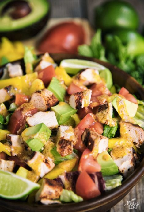 """<strong>Get the <a href=""""https://paleoleap.com/chunky-chicken-taco-salad/"""" target=""""_blank"""">Chunky Chicken Taco Salad recipe</"""