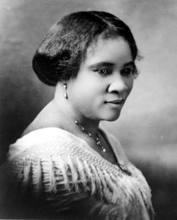 "Madam C.J. Walker became one of the first female self-made millionaires in the world when she <a href=""http://www.biogra"