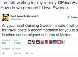 Alt-Right YouTuber's Offer Of Free Trip To Sweden Backfires Beautifully