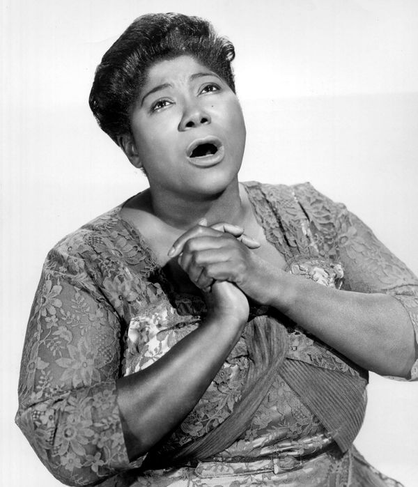 "Mahalia Jackson, the <a href=""http://www.biography.com/people/mahalia-jackson-9351242#synopsis"" target=""_blank"">Queen of"