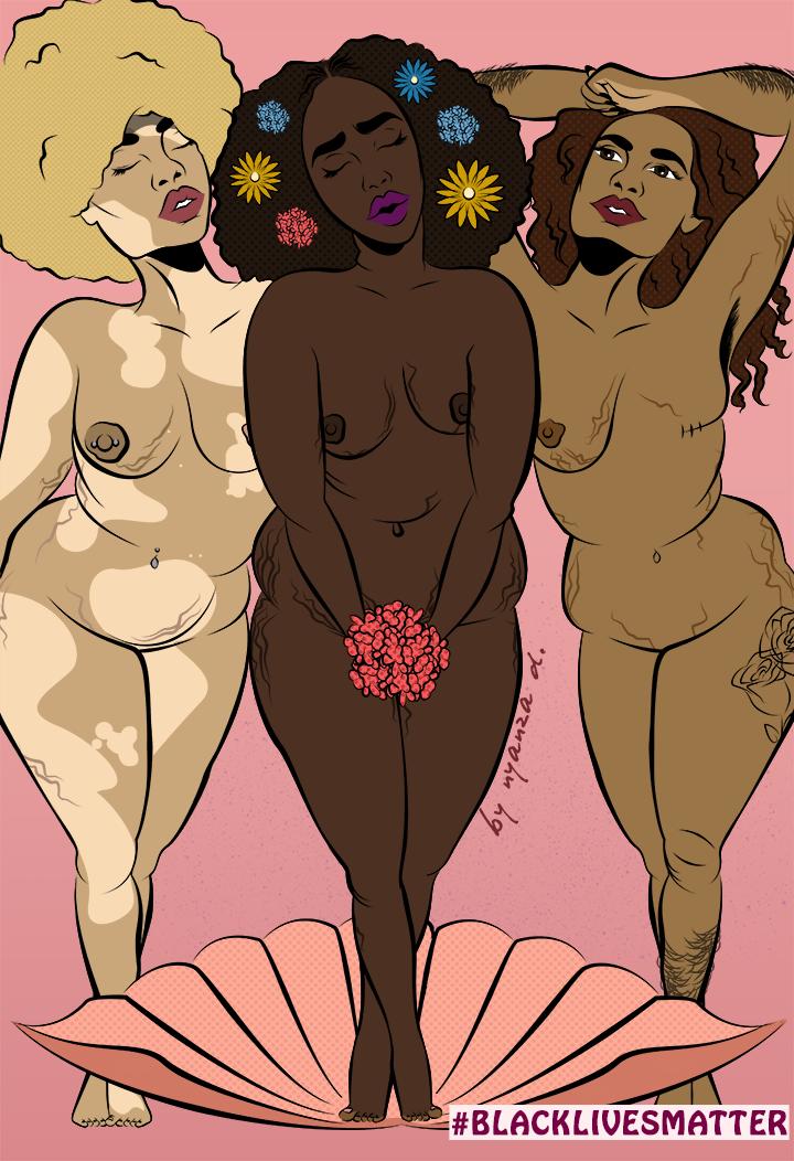 """Black Venus"" by <a href=""NyanzaD.com"" target=""_blank"">Nyanza D</a>"