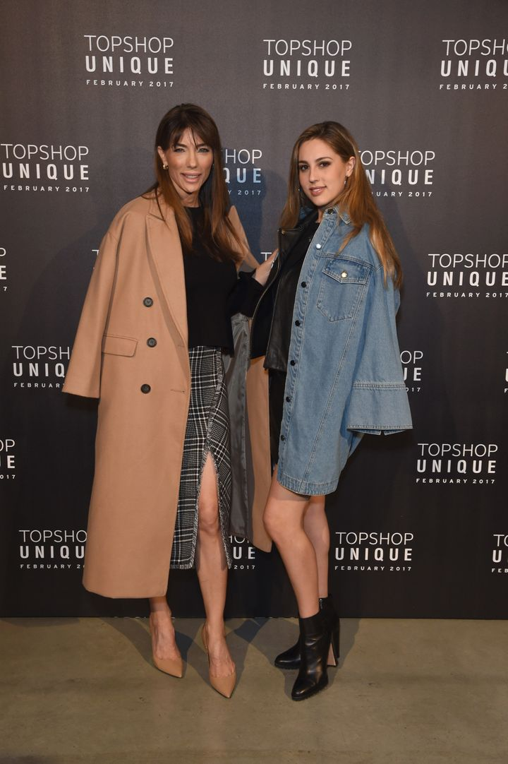 Jennifer and Sophia pose at Topshop's LFW show at Tate Modern.