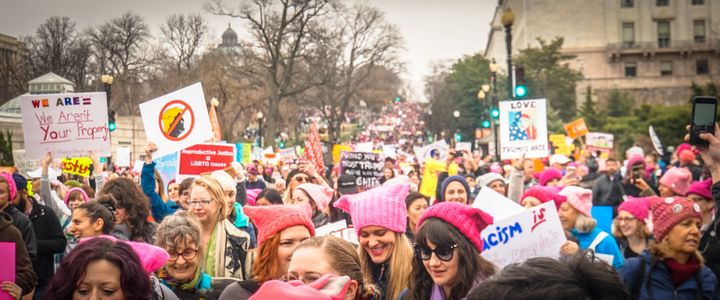 The Women's March on the day after Inauguration Day. President Trump's extremism has evoked what newspaper columnist Maureen