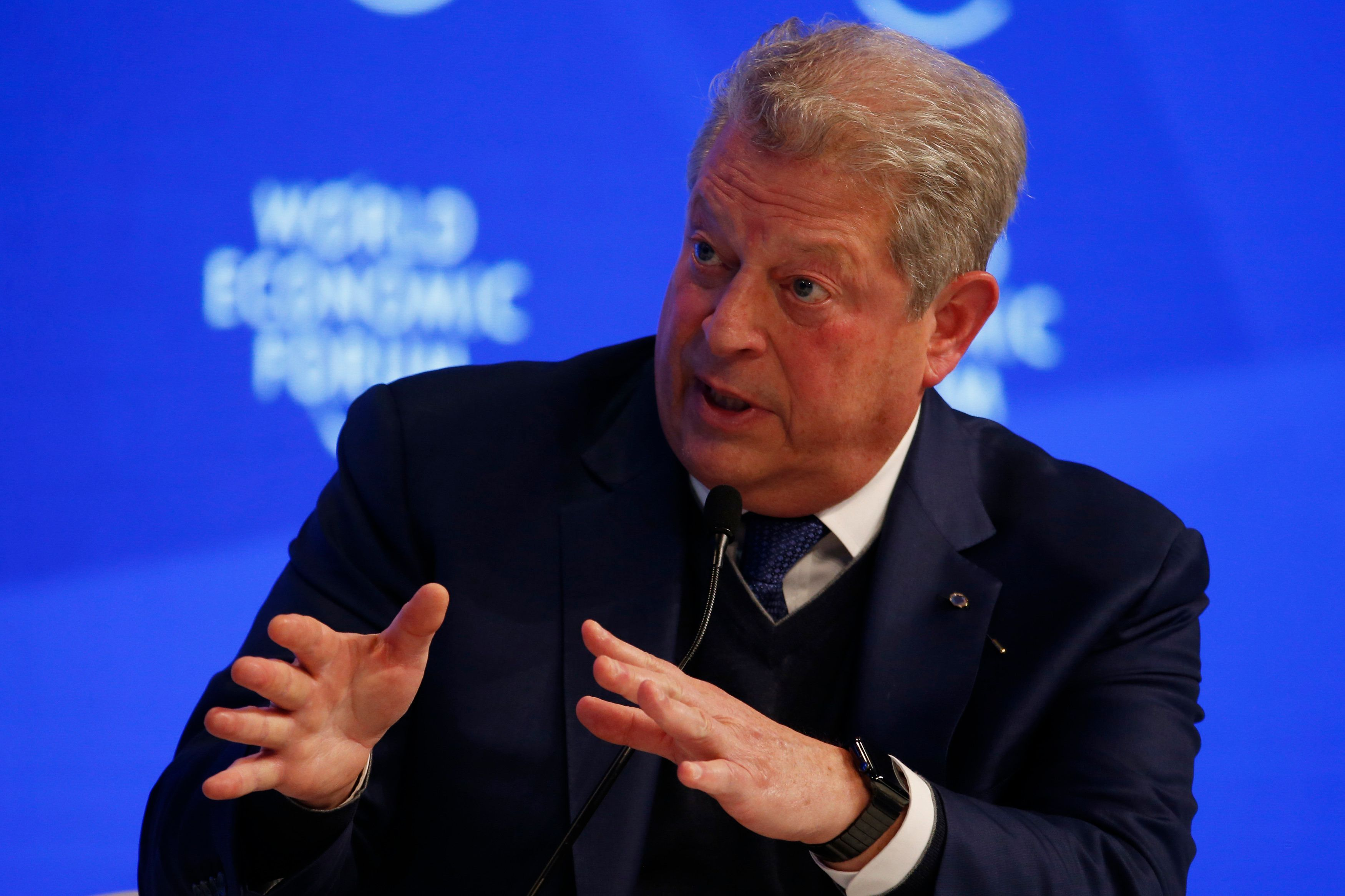 Former U.S. Vice President Al Gore, attends the annual meeting of the World Economic Forum (WEF) in Davos, Switzerland, January 18, 2017. REUTERS/Ruben Sprich
