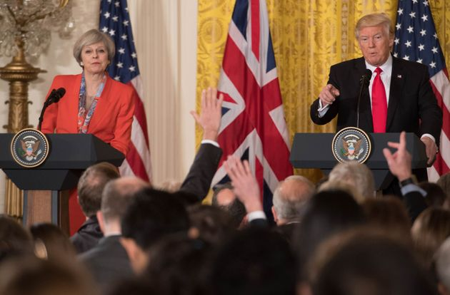 Theresa May invited Donald Trump for a state visit when she met him a week after his