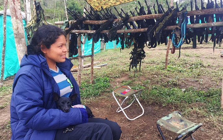 Vanessa Hurtado, 26, entered the FARC at age 13. She would like to see her parents again.