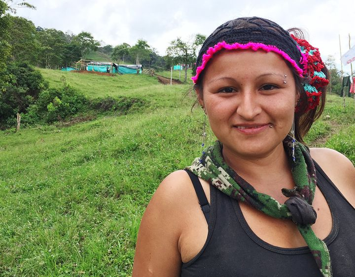 Rutti Terran, 26, has been with the FARC for 11 years. Now she wants an education.