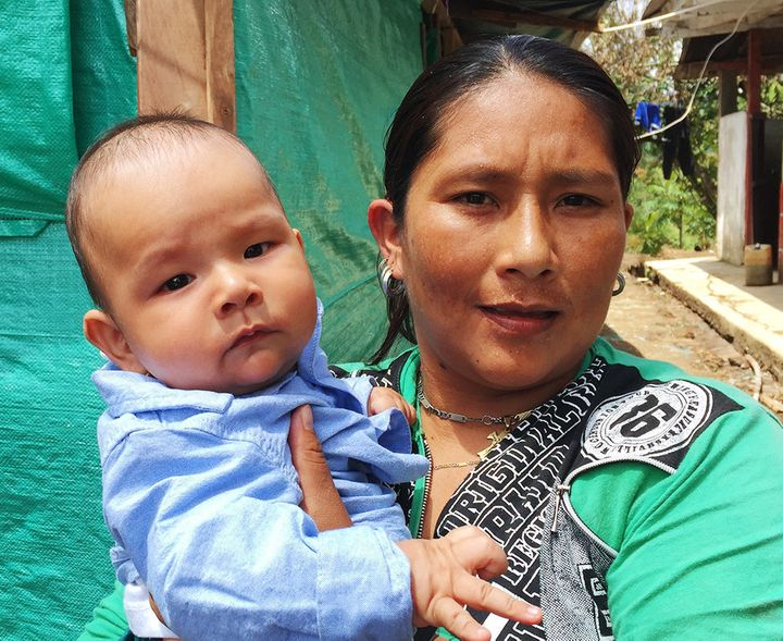 Patricia Gomez, 32, has already begun building a new life withher 5-month-old son, Carlos Andres.