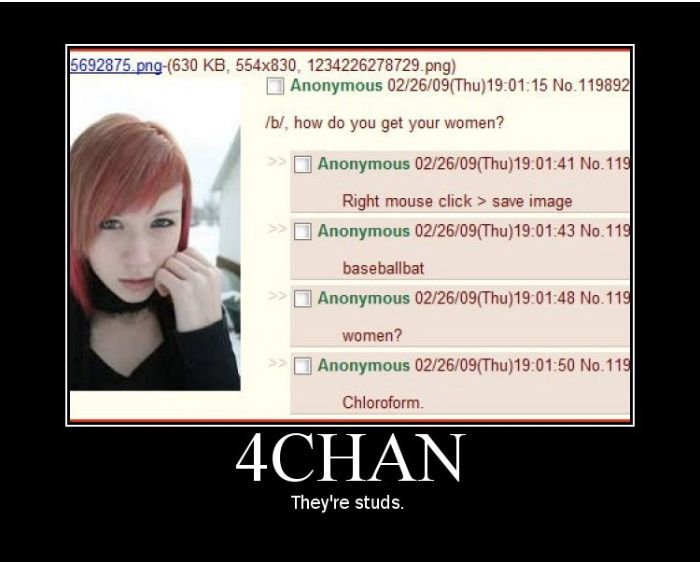 An early 4chan meme made from a screenshot of 4chan